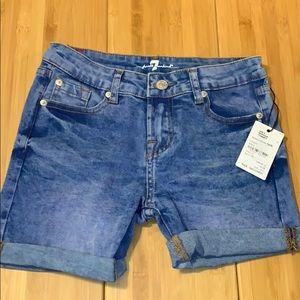 7 jeans. Denim shorts